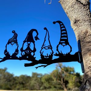 Gnomes Sitting on Tree